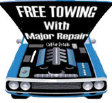 Sergeant Clutch Discount Automotive Repair Shop San Antonio offers Free Towing Service w/ Major Repairs